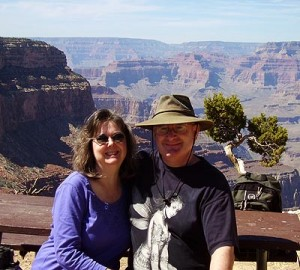 Jeff and Linda-Ann at Hermit's Rest, Grand Canyon