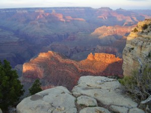 Sunset at Hopi Point at Grand Canyon