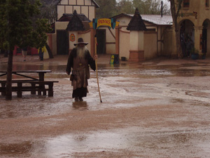 A soggy day at 2014 Arizona Renaissance Festival