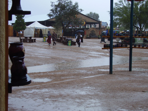 Rain at the 2014 Arizona Renaissance Festival