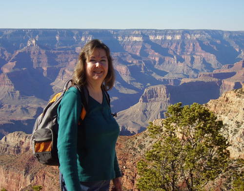 Linda-Ann Stewart at Pipe Creek Vista, Grand Canyon