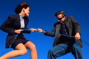 Power Struggle Between a Man and a Woman