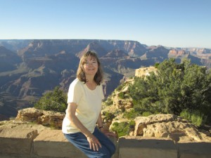 Linda-Ann Stewart at Grand Canyon-Moran Pt.