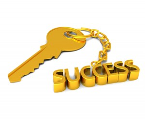Success gold key